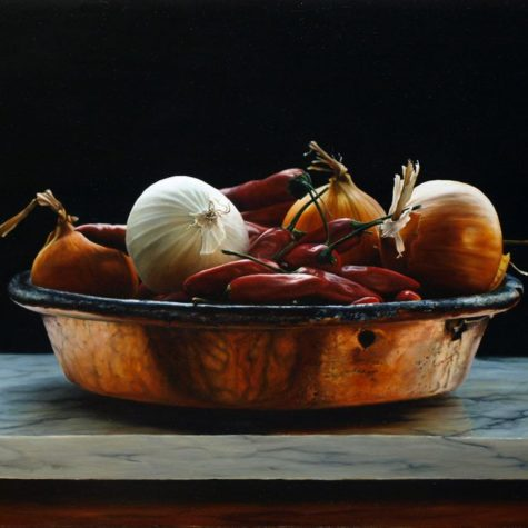ST261015 - olio su pannello - Oil on Panel - 45x29